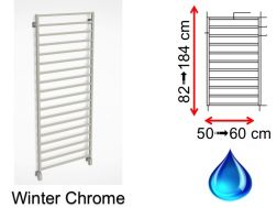 Hydraulic towel dryer, hot water central heating, small size and large size - Winter Chrome SCIROCCO