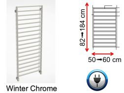 Electric towel warmer, small size and large size - Winter Chrome SCIROCCO