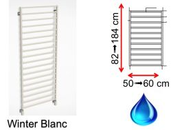 Hydraulic towel dryer, hot water central heating, small size and large size - Winter White SCIROCCO