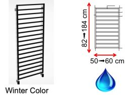 Hydraulic towel dryer, hot water central heating, small size and large size - Winter Color SCIROCCO