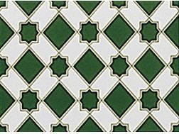 ZOCALO M-13 V 15x20 cm- earthenware tiles, the Oriental style, Moorish or Zellig