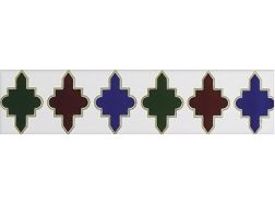 CALABROTE-2 7x28 cm - earthenware tiles, the Oriental style, Moorish or Zellig