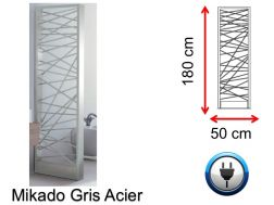 Designer towel dryer, electric, contemporary - Mikado Gris Acier SIROCCO