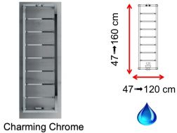 Hydraulic towel dryer, hot water central heating, small size and large size - Charming Chrome SCIROCCO
