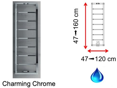 Radiator, heated towel rail Charming - Hydraulic towel dryer, hot ...