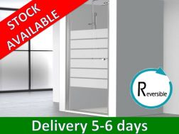 Door 80 x 195 cm, swing shower door, reversible - Hada