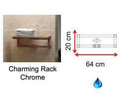 Hydraulic towel dryer, hot water central heating, small size and large size - Charming Rack Chrome SCIROCCO