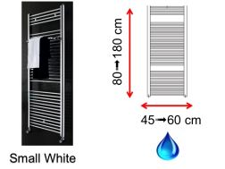 Hydraulic towel dryer, hot water central heating, small size and large size - Small White SCIROCCO