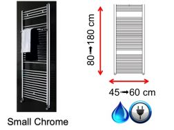 Mixed towel dryer, small size and large size - Small Chrome SCIROCCO