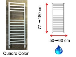 Hydraulic towel dryer, hot water central heating, small size and large size - Quadro Color SCIROCCO