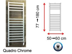 Electric towel dryer small and large - Quadro Chrome SCIROCCO