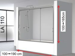 Triple Sliding Niche Doors for Bathtub 110x150 - LA110