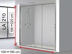 Triple Sliding Shower Doors Niche 120x195 - LA 210