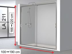 Double Sliding Shower Doors Niche 120x195 - LA-211.