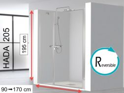Swing shower door with fixed front - HADA