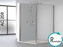 Shower cabin 80x80, swing door with fixed lateral - AC208