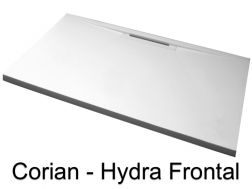 Shower tray Corian Solid Surface, front drainage channel - HYDRA FRONTAL