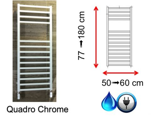 Small and large size towel dryer - Quadro Chrome SCIROCCO