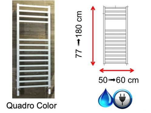Mixed towel dryer, small and large - Quadro Color SCIROCCO