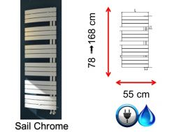 Small and large size towel dryer - Sail Chrome SCIROCCO