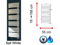 Small and large size towel dryer - Sail White SCIROCCO