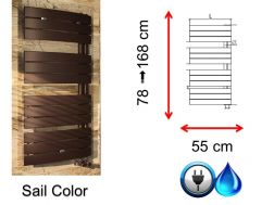 Small and large size towel dryer - Sail Color SCIROCCO
