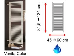 Hydraulic towel dryer, hot water central heating, small size and large size - Vanita Color SCIROCCO