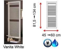 Small and large size towel dryer - Vanita White SCIROCCO