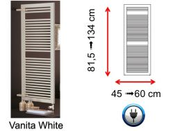 Electric towel dryer small and large - Vanita White SCIROCCO