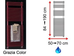 Hydraulic towel dryer, hot water central heating, small size and large size - Grazia Color SCIROCCO