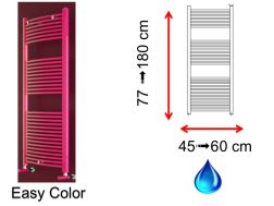 Hydraulic towel dryer, in hot water central heating, small size and big dimension - Easy Color SCIROCCO