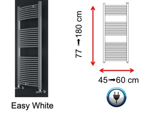 Electric towel warmer, small size and large size - Easy White SCIROCCO