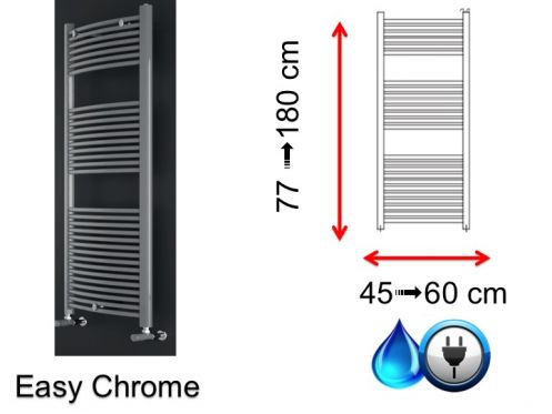 Mixed towel dryer, small size and large size - Easy Chrome SCIROCCO