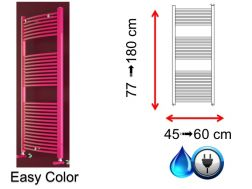 Mixed towel dryer, small size and large size - Easy Color SCIROCCO