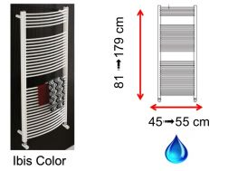 Hydraulic towel dryer, hot water central heating, small size and large size - Ibis Color SCIROCCO