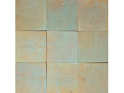 Zellij 10X10 Maldive Light - Tiles Zelliges plain, handmade Moroccan ceramics