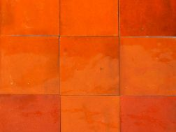 Zellij 10X10 Orange P�tillant - Tiles Zelliges plain, handmade Moroccan ceramics