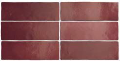 MAGNA BURGUNDY MATT 6,5 x 20 cm - earthenware tiles, the Oriental style, Moorish or Zellig