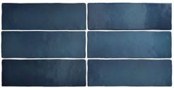 MAGNA SEA BLUE MATT 6,5 x 20 cm - earthenware tiles, the Oriental style, Moorish or Zellig