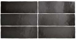 MAGNA BLACK COAL MATT 6,5 x 20 cm - earthenware tiles, the Oriental style, Moorish or Zellig