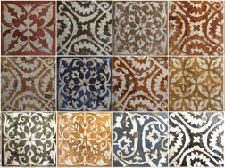HABITAT MITJANA 20 x 20 cm - earthenware tiles, the Oriental style, Moorish or Zellig