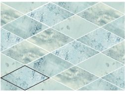 ROMBO SNAP SKY 15X29,5 cm - earthenware tiles, the Oriental style, Moorish or Zellig