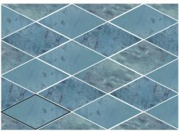 ROMBO SNAP BLUE 15X29,5 cm - earthenware tiles, the Oriental style, Moorish or Zellig