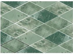 ROMBO SNAP GREEN 15X29,5 cm - earthenware tiles, the Oriental style, Moorish or Zellig