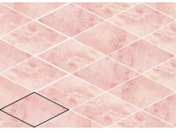 ROMBO SNAP PINK 15X29,5 cm - earthenware tiles, the Oriental style, Moorish or Zellig