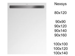 Steel channel shower tray, built-in - Nexsys