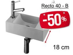 - 50 __percent__ => Washing hands resin depth 18 cm,  - RECTO 40 Benesan