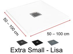 Custom shower tray very small - 75 x 75 -  Extra Small