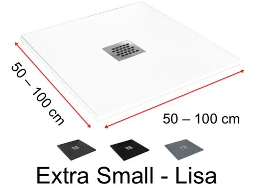 Custom shower tray very small - 80 x 80 -  Extra Small