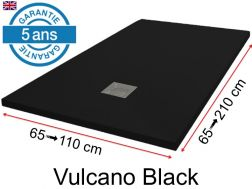 Mineral resin shower trays, custom made, stone effect, non-slip - VULCANO Black